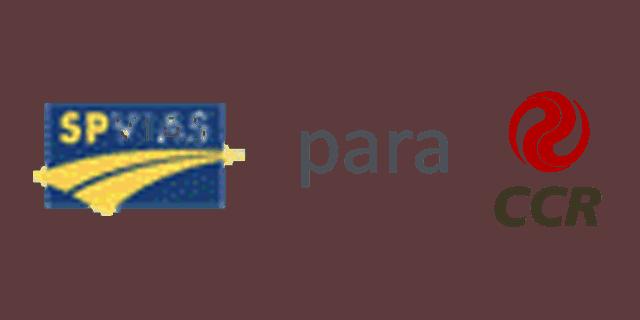 Logos da SPVIAS e da CCR